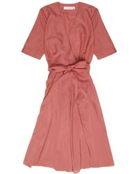 La Robe - Rose Voile Dress In Rose - Lyst