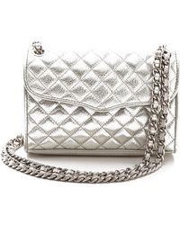 Rebecca Minkoff Quilted Mini Affair Bag Silver - Lyst