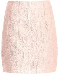 Mary Katrantzou Alphabet-Jacquard Mini Skirt - Lyst