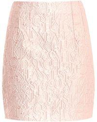 Mary Katrantzou Alphabet-jacquard Mini Skirt - Lyst