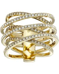 Michael Kors Pave Crisscross Ring gold - Lyst