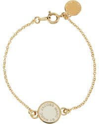 Marc By Marc Jacobs - Logo Disc-o Cream Gold Tone Bracelet - Lyst