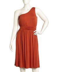 Rachel Pally Imara Oneshoulder Jersey Dress Pumpkin - Lyst