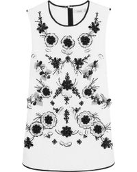 Erdem Claude Embellished Matelassé Cotton Top - Lyst