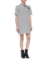 Marc By Marc Jacobs Jacquelyn Striped Mandarin Dress Marine - Lyst