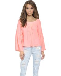 Nanette Lepore Island Party Top - Creamsicle - Lyst
