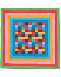 Valentino '1973' Geometric Print Silk Scarf multicolor - Lyst