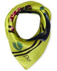 Dior Printed Scarf green - Lyst