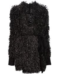 Lost & Found - Textured Belted Cardi-Coat - Lyst