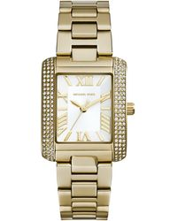 Michael Kors Petite Golden Stainless Steel Emery Threehand Glitz Watch - Lyst