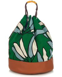 Marni - Candle Stick-print Canvas Backpack - Lyst