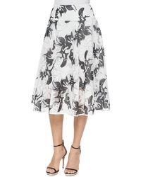 Nanette Lepore Escapade Midi Floral-Print Skirt - Lyst