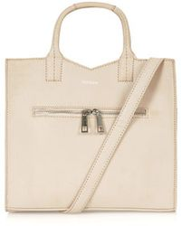Topshop Boxy Pu Tote - Lyst