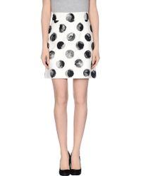 Dolce & Gabbana Knee Length Skirt black - Lyst