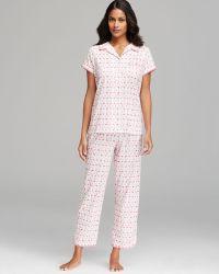 Carole Hochman - Flamingo Cotton Jersey Capri Pyjama Set - Lyst