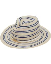 Eugenia Kim Cream Courtney Stripe Hat - Lyst