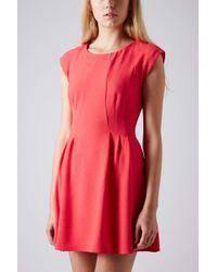 Topshop Petite Crepe Seam Flippy Dress - Lyst