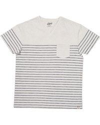 Grayers - Plaited Stripe Vneck Tshirt - Lyst