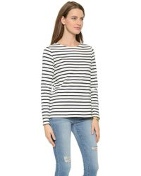 Petit Bateau - Meliana Long Sleeve Top - Coquille/Abysse - Lyst