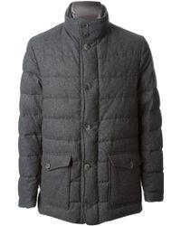 Herno Gray Padded Jacket - Lyst