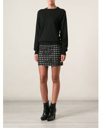 Costume National Lace Overlay Contrast Skirt - Lyst