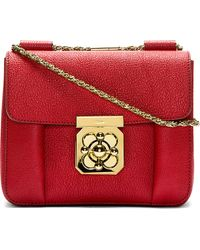 Chloé Burgundy Grained Leather Elsie Small Shoulder Bag - Lyst