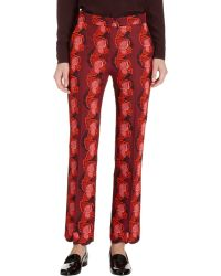 Stella McCartney Embroidered Cropped Trousers - Lyst
