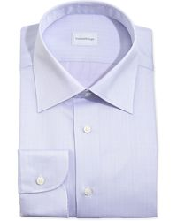 Ermenegildo Zegna Glen Plaid Dress Shirt Lavender - Lyst