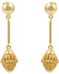 Kastur Jewels - Art Deco Simple Birdcage Drop Earrings - Lyst