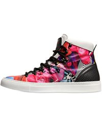 Basso&brooke Studio Printed Leather High Top Sneakers - Lyst