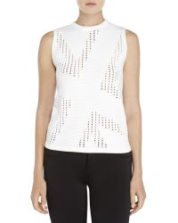 Dirk Bikkembergs Sport Couture - White Pointelle Knit Sweater - Lyst