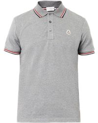 Moncler Logobadge Polo Shirt - Lyst