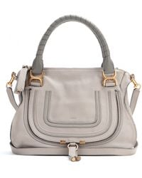 Chloé Marcie Medium Leather Tote - Lyst