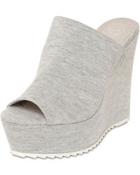 Jeffrey Campbell 120Mm Cotton Jersey Mule Wedges - Lyst