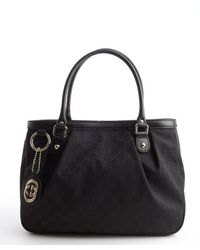 Gucci Black Gg Canvas Top Handle Sukey Tote - Lyst