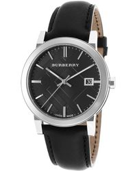 Burberry Mens The City Black Genuine Leather and Dial - Lyst