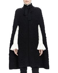 Alexander McQueen | Chunky Quilted-knit Long Cape | Lyst