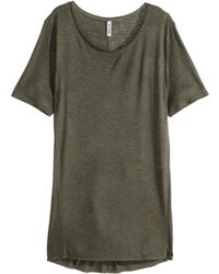 H&M Long T-Shirt - Lyst