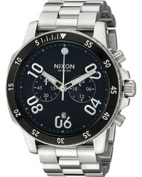 Nixon The Ranger Chrono silver - Lyst