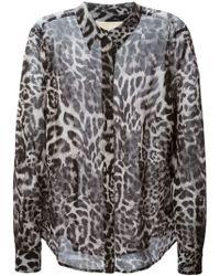 MICHAEL Michael Kors Leopard Print Shirt - Lyst