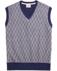 Brooks Brothers Argyle Vest - Lyst