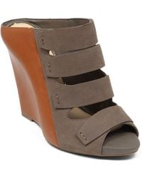 Jessica Simpson Marah Leather Wedges - Lyst