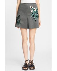 Marni Women'S Sequin Embroidered Bonded Neoprene Skirt - Lyst