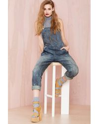 Nasty Gal Denim  The Over It Overalls - Lyst