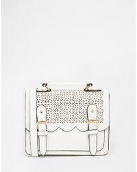 ASOS | Mini Scallop Satchel Bag | Lyst