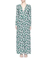Stella McCartney | Poppy Print Silk Jumpsuit | Lyst