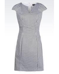 Armani Jeans Dress In Stretch Cotton Satin - Lyst