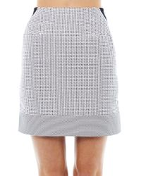 Richard Nicoll - Micro-check Cotton-blend Skirt - Lyst