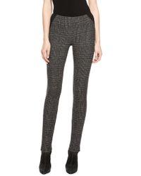 Donna Karan New York Glen Plaid Jersey Backed Pants - Lyst