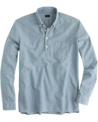 J.Crew Japanese Chambray Popover Shirt - Lyst